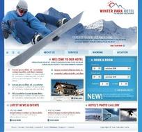 欧美滑雪运动网站网页源码
