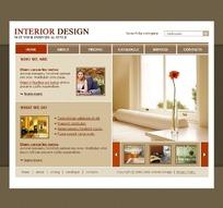 欧美家居装饰企业网站设计源码