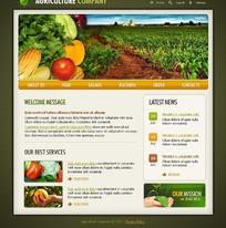 欧美农业公司网站网页源码
