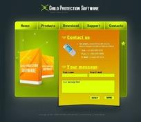 欧美软件促销网站网页源码