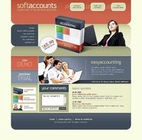 欧美软件账户注册网站网页源码