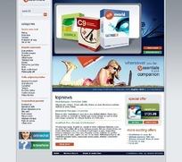 欧美商业软件销售网站网页源码