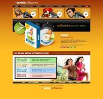 欧美游戏软件共享网站网页源码