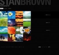 自然景观摄影展示网站网页设计