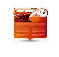 橙色椭圆重心对话框形状网页模板
