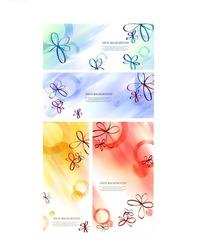 创意花朵几何圆形彩色背景