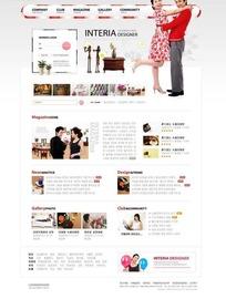 韩国室内装饰公司网站模版