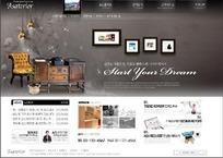 韩国专业家居装饰行业网站网页模版