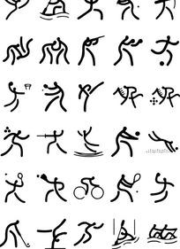 运动小人图标