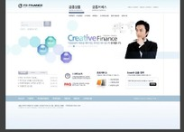 创意金融网站网页模板