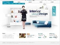 韩国家居装饰机构网站设计模版