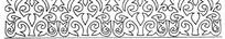 卷叶黑白线条二方连续图案
