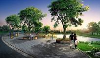 公园景观园林PSD分层效果图