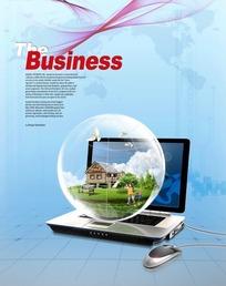 商务科技环保概念宣传psd素材