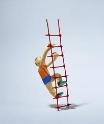 我梦见正在爬梯子的最后一阶时候梯子突然断了,我掉下来了,谁能帮我解图片