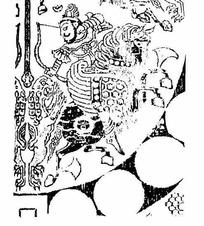 中国古典-骑马搭弓的男子