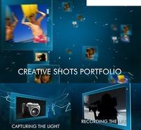 创意拍摄组合网页模板