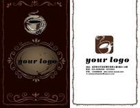 精美的咖啡厅卡片设计模板