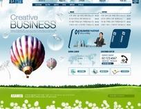 数码业务创意网站模板