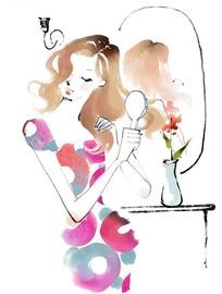 梳头发的美女