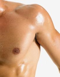裸上身前胸肩部特写的舞蹈男子