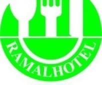 圆形绿色刀叉汤匙图案餐饮类标志设计