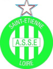SAINT-ETIENNE LOIRE圣艾蒂安足球俱乐部标志矢量素材