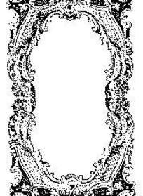 黑色欧式复古卷草图案边框矢量素材