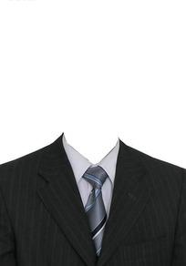 黑色西装证件照照片模板PSD素材