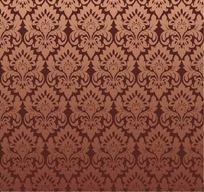 棕色背景上的四方连续图案花