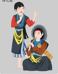 珞巴族卡通人物psd素材