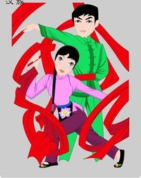 汉族卡通人物psd素材