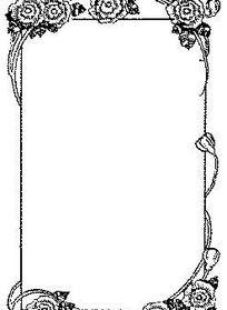 黑色欧式复古图案花边框矢量素材