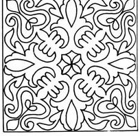 单色对称线条纹样JPG图片
