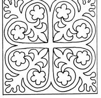 单色对称线条心形纹样JPG图片