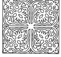 黑白四角对称线条纹样JPG图片