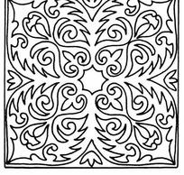 黑白四角对称线条叶脉纹样JPG图片