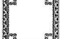黑色复古图案边框矢量素材