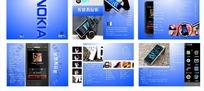 诺基亚手机画册蓝色模板
