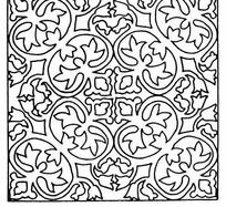 四角对称单色线条纹样JPG图片