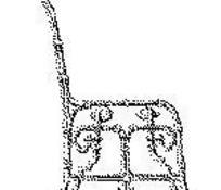 单色点构成系列013欧式椅子侧面图EPS文件