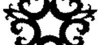 黑白五边形简单花纹EPS文件