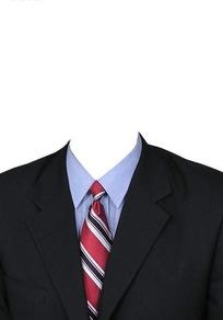 黑西服红黑条纹领带换脸模板