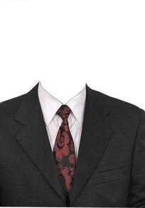 黑西服云纹领带换脸模板
