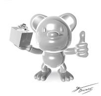 手拿精美礼盒并竖着大拇指的卡通动物
