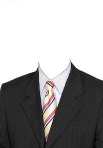 细条纹西服条纹领带换脸模板
