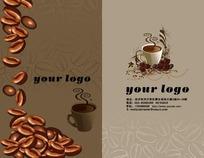 咖啡厅名片卡片设计PSD模板