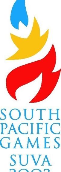 苏瓦2003南太平洋运动会标志矢量下载