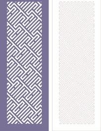 中式门图案镂空花纹CDR素材