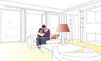 家居框架构建效果图